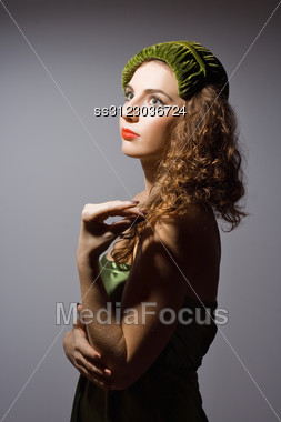 Portrait Of A Beautiful Sensual Young Lady Stock Photo