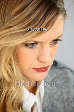 Portrait Of Blond Businesswoman Stock Photo