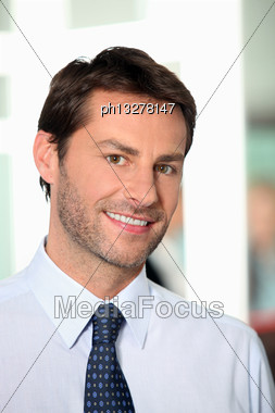 Portrait Of Businessman Stock Photo