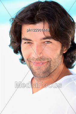 Portrait Of A Man On A Sunny Day Stock Photo
