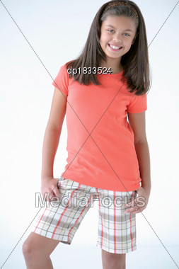 Royalty-Free Stock Photo: Portrait Of Preteen Girl