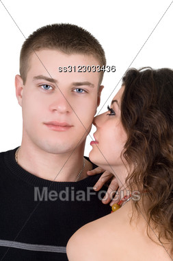 Portrait Of The Young Couple. Stock Photo