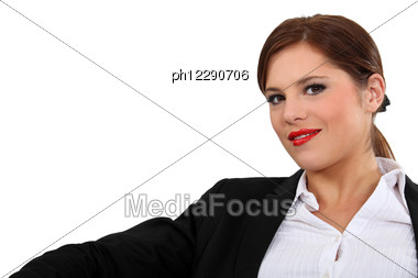 Portrait Of A Young And Confident Woman Stock Photo
