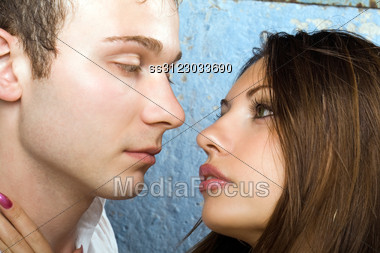Portrait Of The Young Beauty Couple 6 Stock Photo