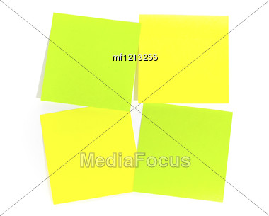 Postit For Reminder Note Stock Photo