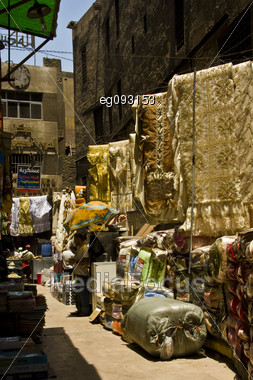 Posts At A Market In Cairo In The Morning Stock Photo