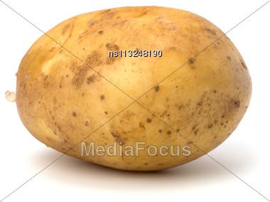 Potato Isolated On White Background Close Up Stock Photo