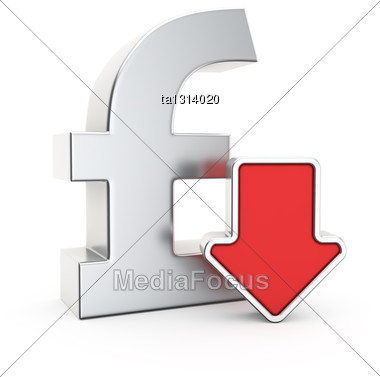Pound Currency Symbol And Icon Of Depreciation Stock Image Ta1314020