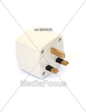 Power Adapter Plug Stock Photo