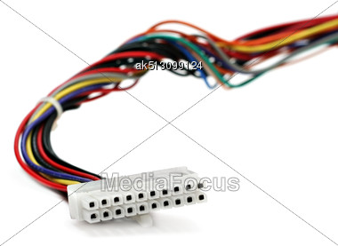 Power Supply Cable Isolated Stock Photo