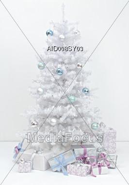 Presents Under Christmas Tree Stock Photo