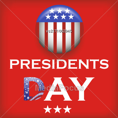 Presidents Day Icon Isolated On Red Background Stock Photo