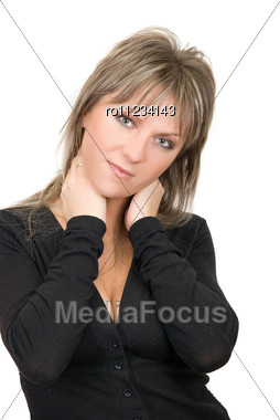 Pretty Women Isolated Stock Photo