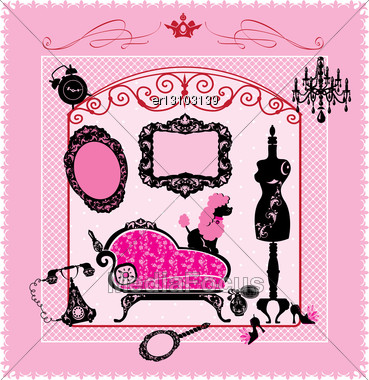 Princess Room - Illustration For Girls Stock Photo
