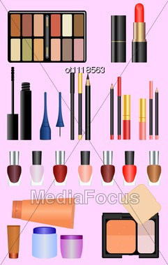 Professional Make Up Set Stock Photo
