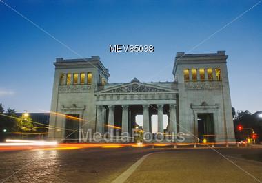 Propylaea, King Square, Munich, Bavaria, Germany Stock Photo