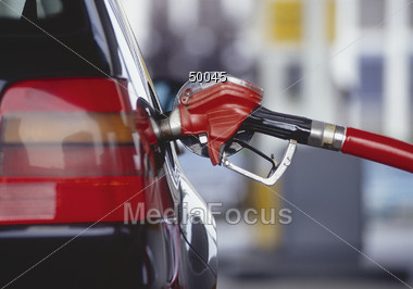 Pumping Gas Stock Photo