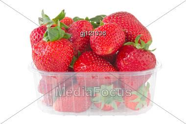 Punnet Of Strawberries Stock Photo