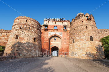 Purana Qila Is The Oldest Fort Among All Forts In Delhi Stock Photo