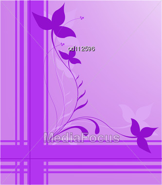 Purple Fl Design On The Intersecting Strips Stock Photo