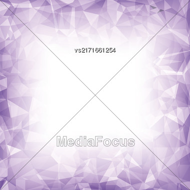 Purple Polygonal Background. Purple Crystal Triangle Pattern Stock Photo