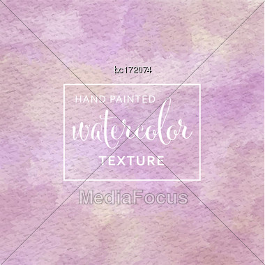 Purple And Yellow Pastel Watercolor On Tissue Paper Pattern. Vector Stock Photo