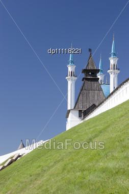 Qolsharif Mosque In Kazan City / Tatrstan Symbol Stock Photo