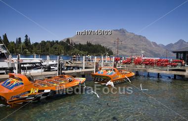 Queenstown New Zealand South Island Adventure Capital Stock Photo