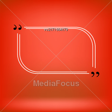 Quote Bubble. Speech Bubble. Empty Template On Red Background Stock Photo