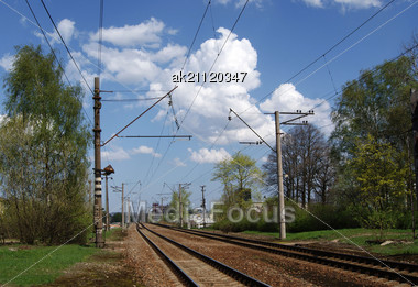 Railway Has Entangled All World The Rails Stock Photo