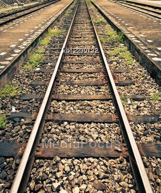 Railway of the train thailand in khuntan chiangmai Stock Photo