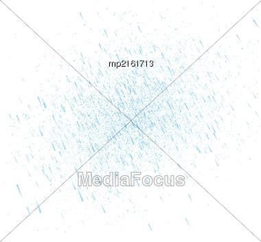 Rainy Sky Vector Illustration On A White Background Stock Photo