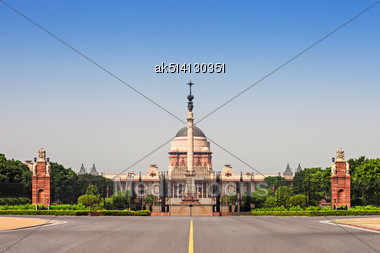 Rashtrapati Bhavan Is The Official Home Of The President Of India Stock Photo