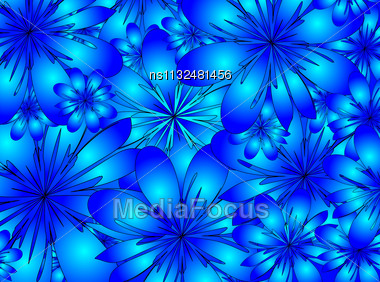 Raster. Floral Background Stock Photo