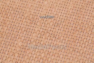Rattan Placemat Texture For Background, Close-up Image Stock Photo