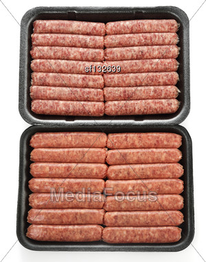 Raw Breakfast Sausage Links Stock Photo