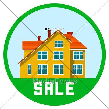 Real Estate Vector Illustration On White Background Stock Photo