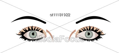 Realistic Illustration Of Eyes Are Stock Photo