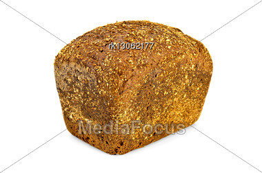 Rectangular Loaf Of Rye Bread Stock Photo