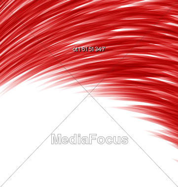 Red Abstract Wave Techno Background Frame Space For Text - Vector Stock Photo