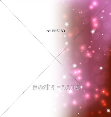 Red Background - Vector Illustration, Graphic Design Useful For Your Design. Bright Red Abstract Christmas Background With White Snowflakes. Space Your Text Stock Photo