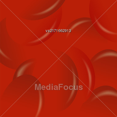 Red Candy Background. Set Of Red Jelly Beans Stock Photo
