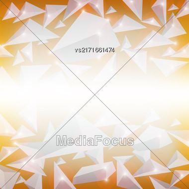 Red Crystal Pattern. Explosion Of Particles. Abstract Parts Background Stock Photo