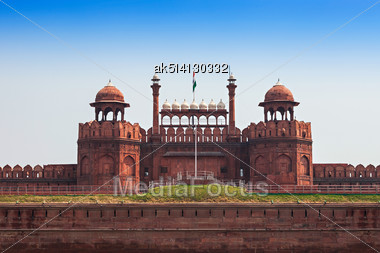 Red Fort Is A Large Fort Complex Located In Delhi Stock Photo