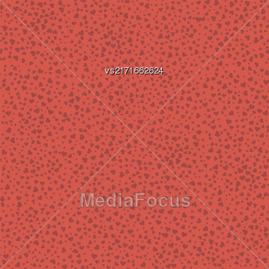 Red Hearts Seamless Pattern. Valentines Day Background. Symbol Of Love Stock Photo
