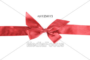 Red Holiday Ribbon Stock Photo