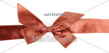 Red Holiday Ribbon Stock Photo