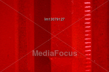 Red Iron Metal Sheet In La Boca Buenos Aires Stock Photo