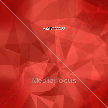 Red Light Polygonal Mosaic Background. Business Design Templates. Triangular Geometric Pattern Stock Photo