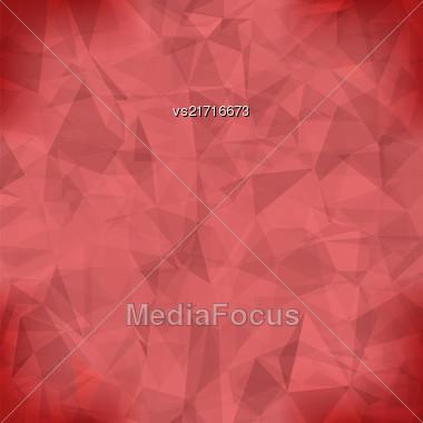 Red Light Polygonal Mosaic Background. Business Design Templates. Triangular Geometric Pattern Stock Photo